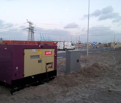 Abird – tijdelijke aansluiting van de openbare verlichting op de maasvlakte 2
